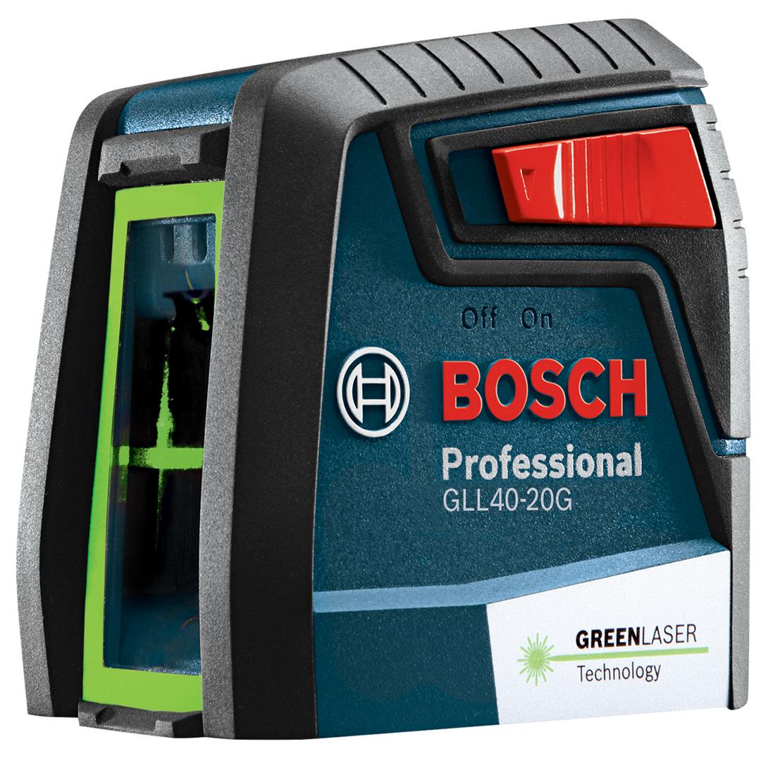 Bosch GLL40-20G Green-Beam Self-Leveling Cross-Line Laser