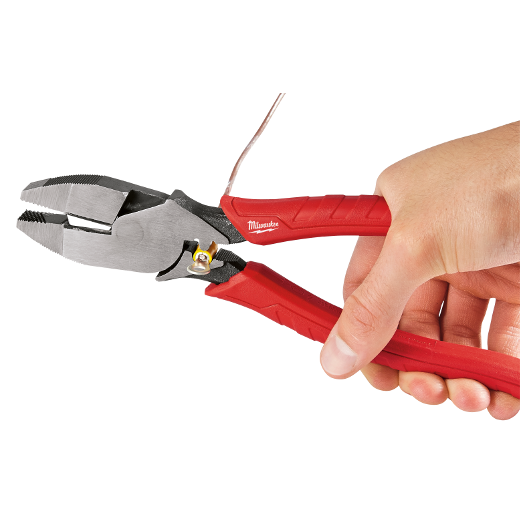 "Milwaukee 48-22-6100 9"" Comfort Grip High Leverage Lineman's Pliers w/ Crimper"