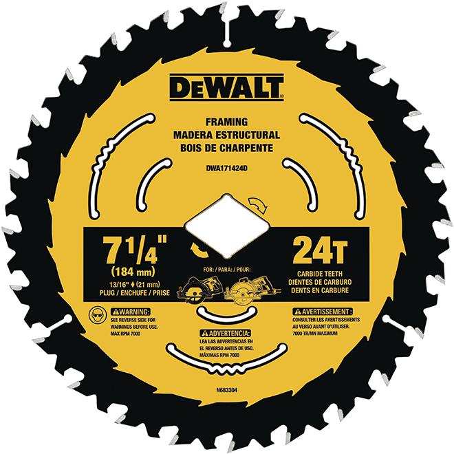 DeWALT DWA171424B10 10pk 7-1/4in Circular Saw Blade