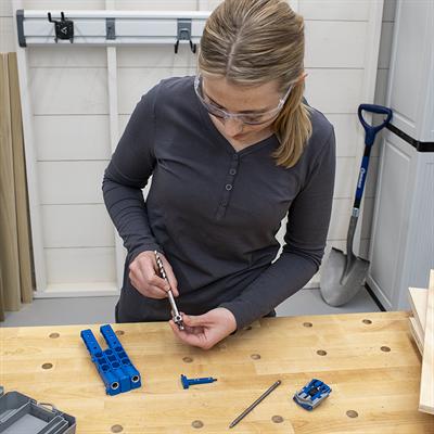 Kreg Tool KREG-KPHA308 Easy-Set Drill Bit with Stop Collar & Gauge/Hex Wrench