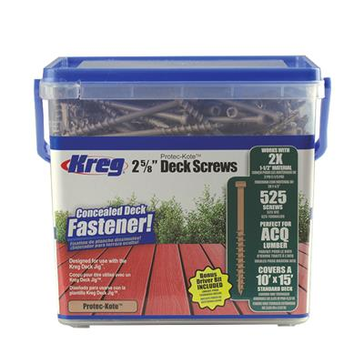 Kreg Tool KREG-SDKC262W525 2x Protec-Kote 8X2-5/8 Deck Screws - 525ct.