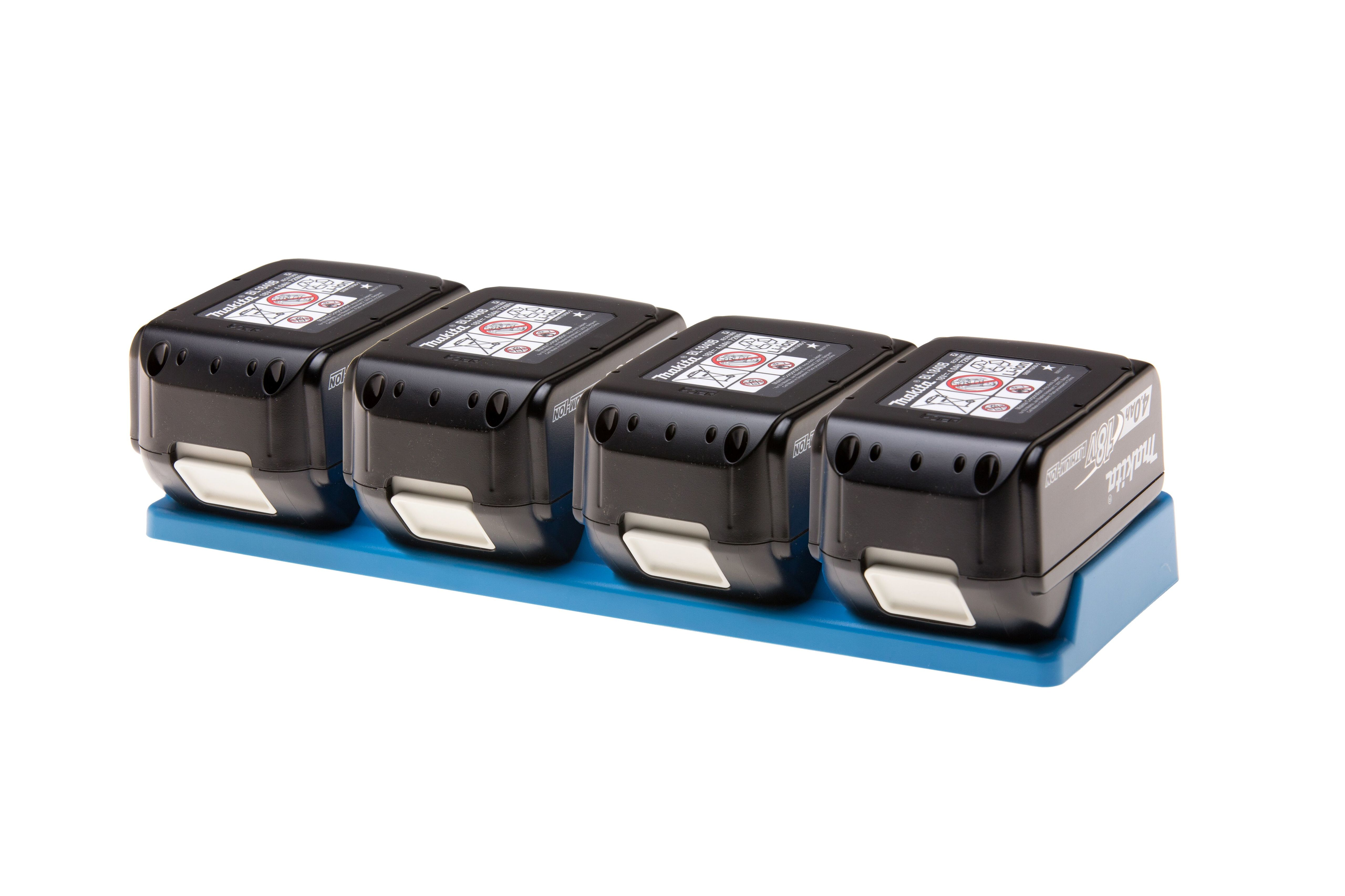 48 Tools BH-MAK-BLU-04 Makita 18V 4-Unit Battery Holder
