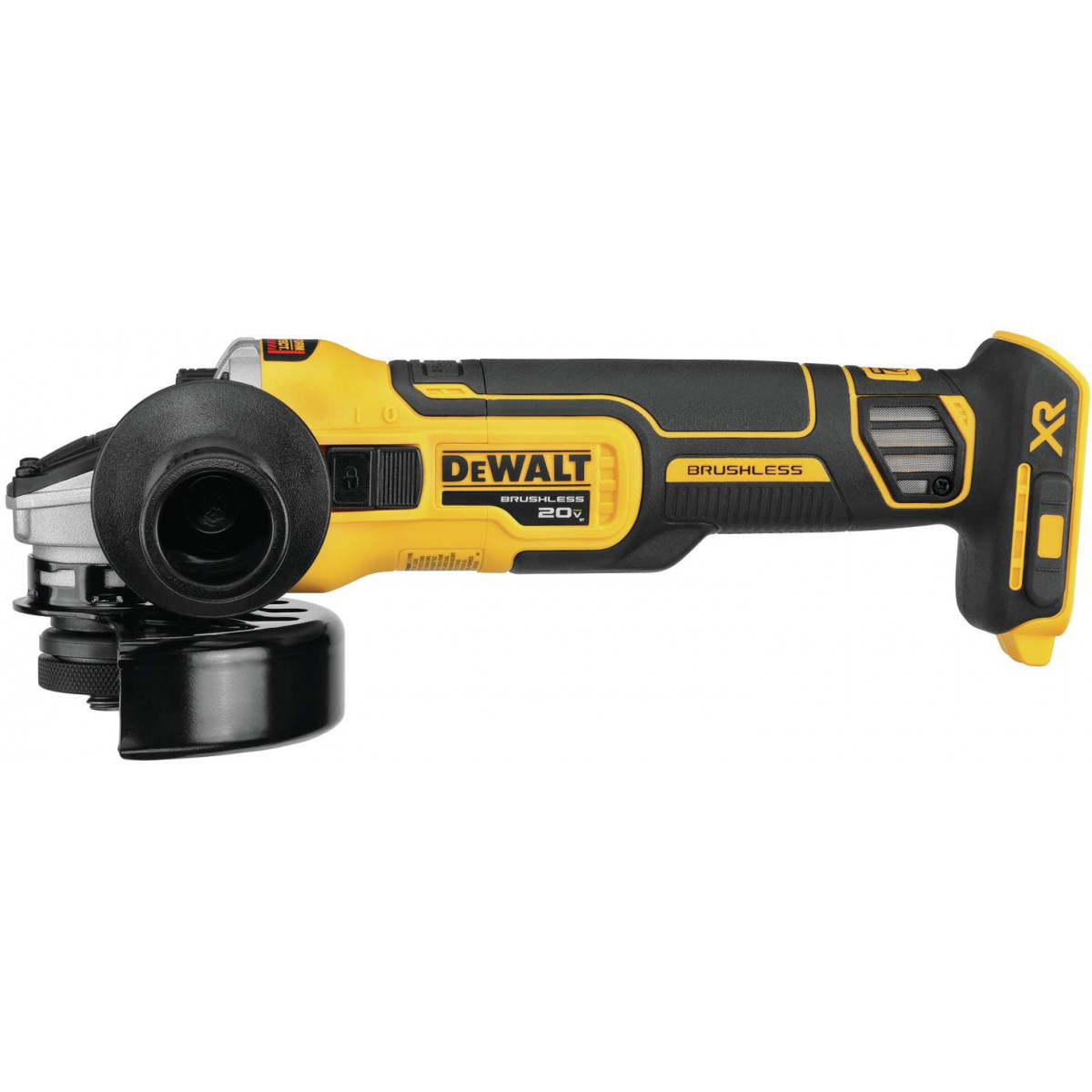 DeWALT DCG405B 20V 4 -1/2In Slide Switch Small Angle Grinder With Kickback Brake (Tool Only)