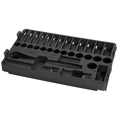 """Milwaukee 48-22-9482T 3/8"""" 32pc Ratchet and Socket Set in PACKOUT - Metric Tray"""