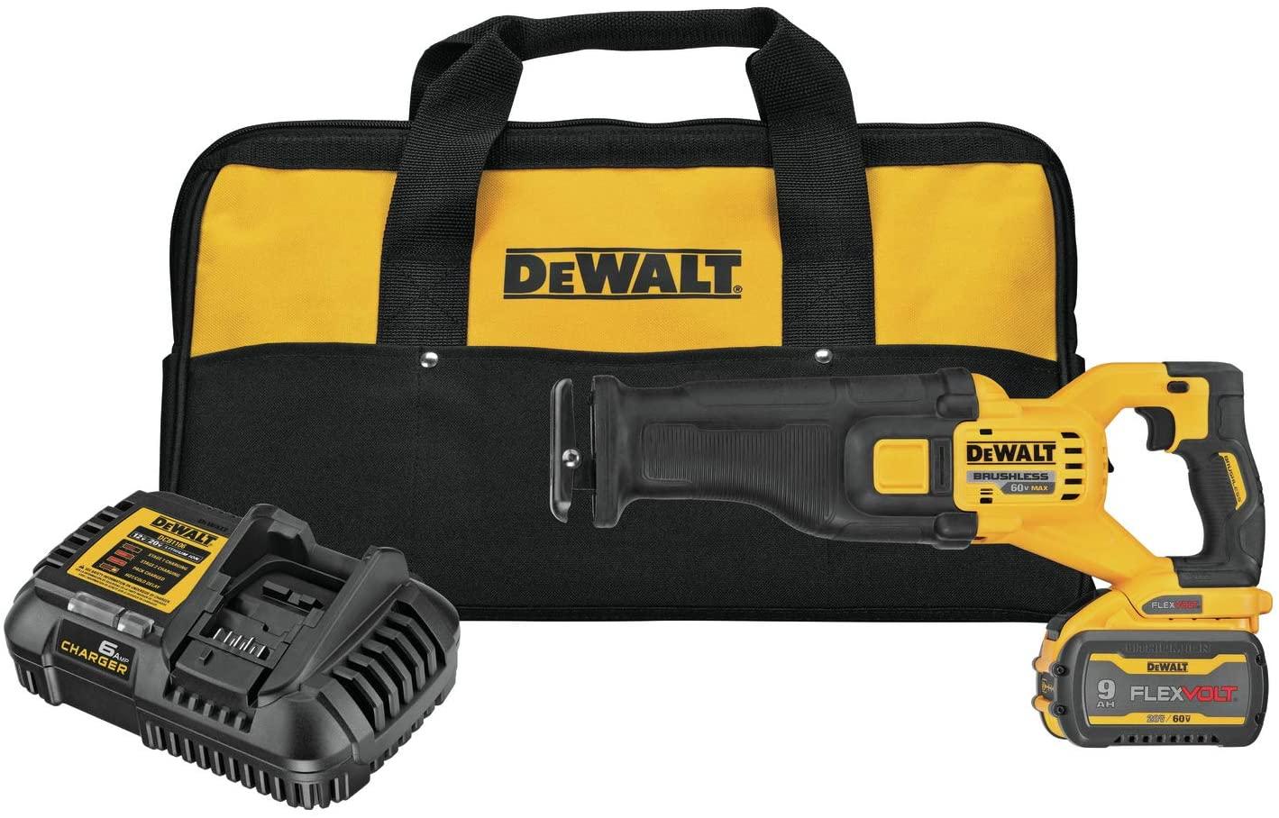 Dewalt DCS389X1 Flexvolt 60V MAX Brushless Cordless Reciprocating Saw Kit