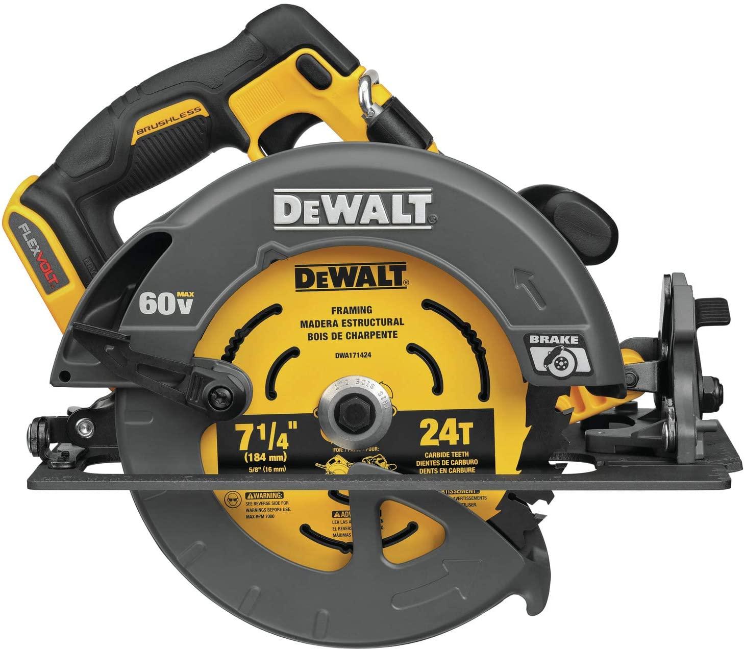 Dewalt DCS578B Flexvolt 60V MAX Brushless 7-1/4 In. Cordless Circular Saw With Brake (Tool Only)