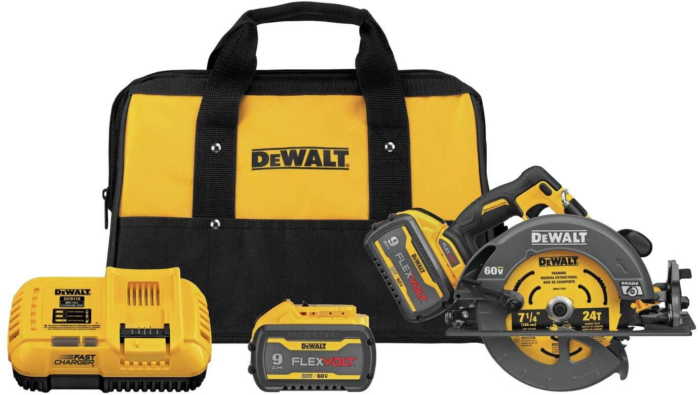 Dewalt DCS578X2 Flexvolt 60V MAX Brushless 7-1/4 In. Cordless Circular Saw With Brake Kit