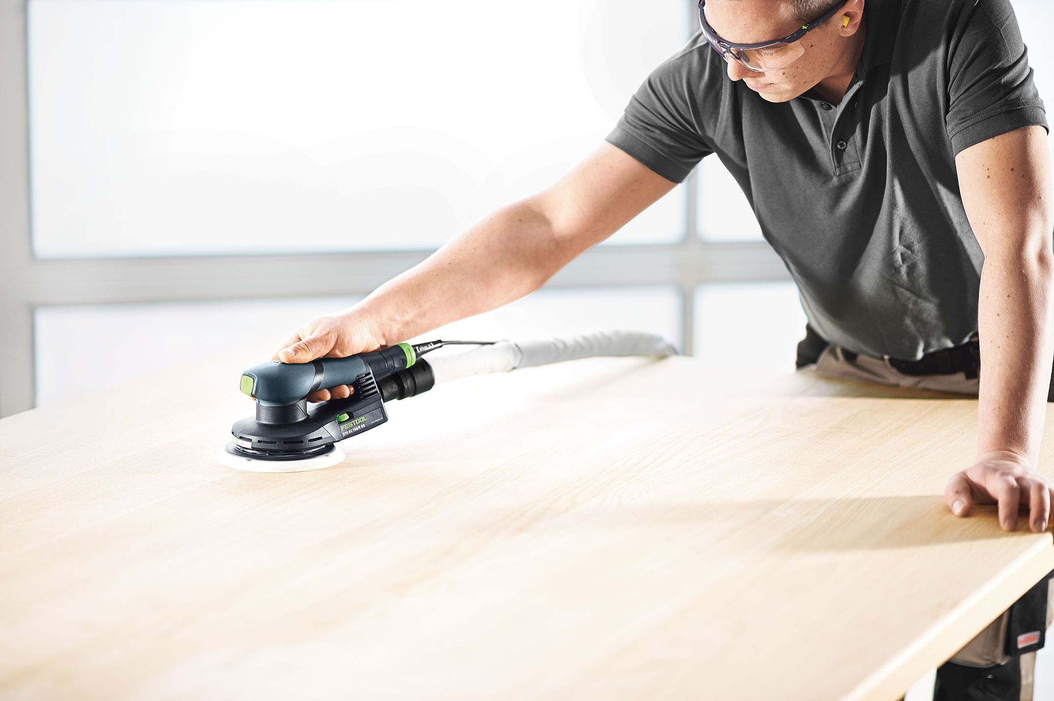 """Festool FES-576339 ETS EC 150/5 EQ 150mm (6"""") Compact Brushless Finish Sander Comes in NEW Systainer 3"""