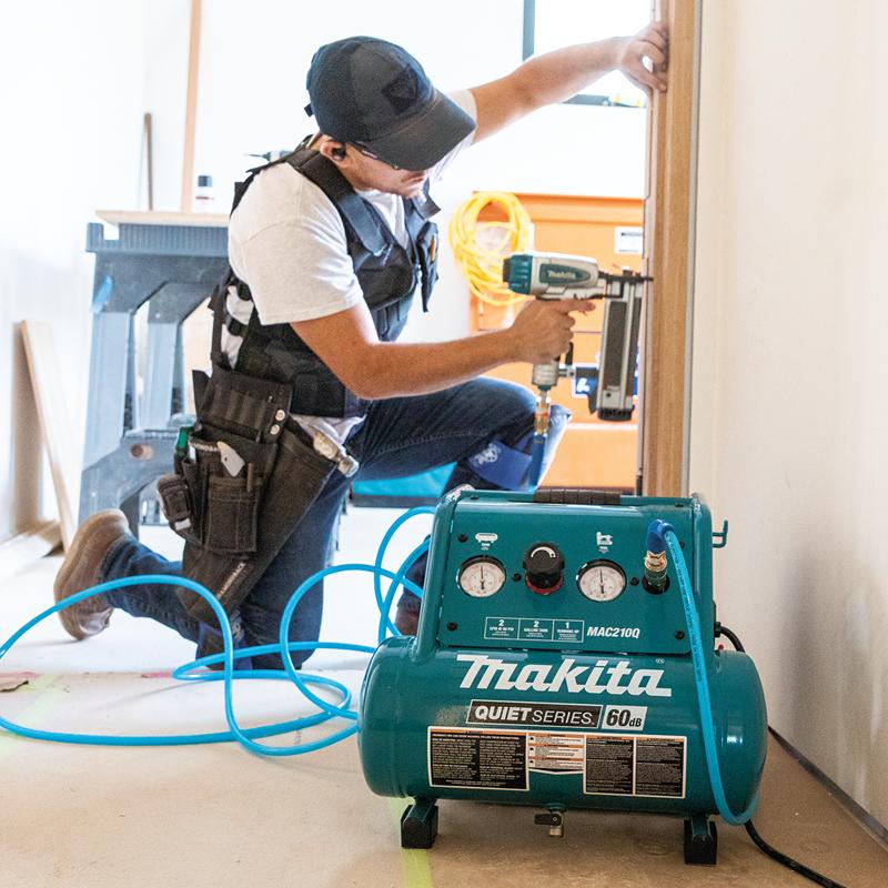 Makita MAC210Q Quiet Series, 1 HP, 2 Gallon, Oil‑Free, Electric Air Compressor