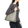FRYE Women's Lena Zip Shoulder Bag Grey