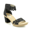 Rieker Women's Rabea 55 Heeled Sandal Black