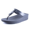 Fitflop Women's Fino Marble Gem Thong Sandal All Black