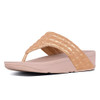 Fitflop Women's Lulu Padded Shimmysuede Thong Rose Gold