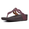 Fitflop Women's Eva Interlace Leather Thong Lingonberry