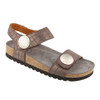 Taos Women's Luckie Sandal Charcoal Crocdile Emboss