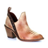 Corral Heritage Women's F1197 Ankle Bootie Honey/Bronce