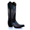 Circle G By Corral Women's LD Wings & Flowers Embroidery Boot Black