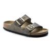 Birkenstock Women's Arizona Slide Sandal Washed Metallic Stone Gold