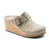 Papillio Women's Fanny Wedge Clog Taupe Suede