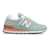 New Balance Women's WL574ESE Sneaker White Agave/Faded Copper