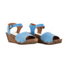 Sanita Women's Edel Wedge Flex Sandal Blue