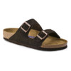 Birkenstock Men's Arizona SF Slide Mocha Suede