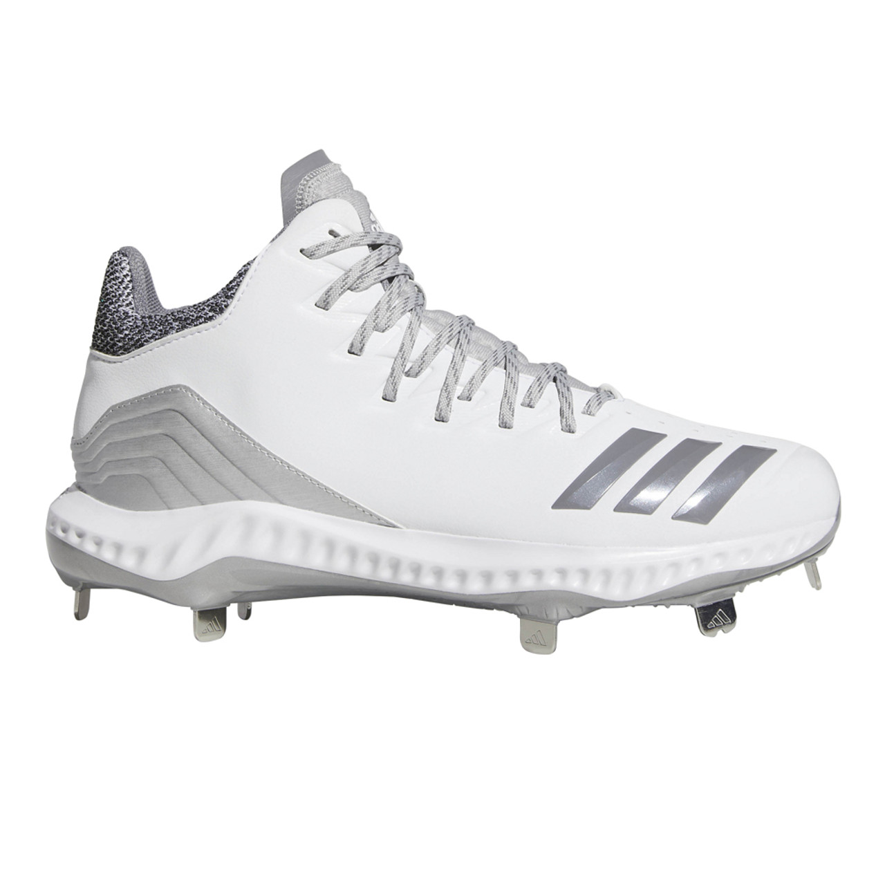 the latest e732b e9d58 Adidas Men s Icon Bounce Mid Baseball Cleat White Grey - Shop now   Shoolu.