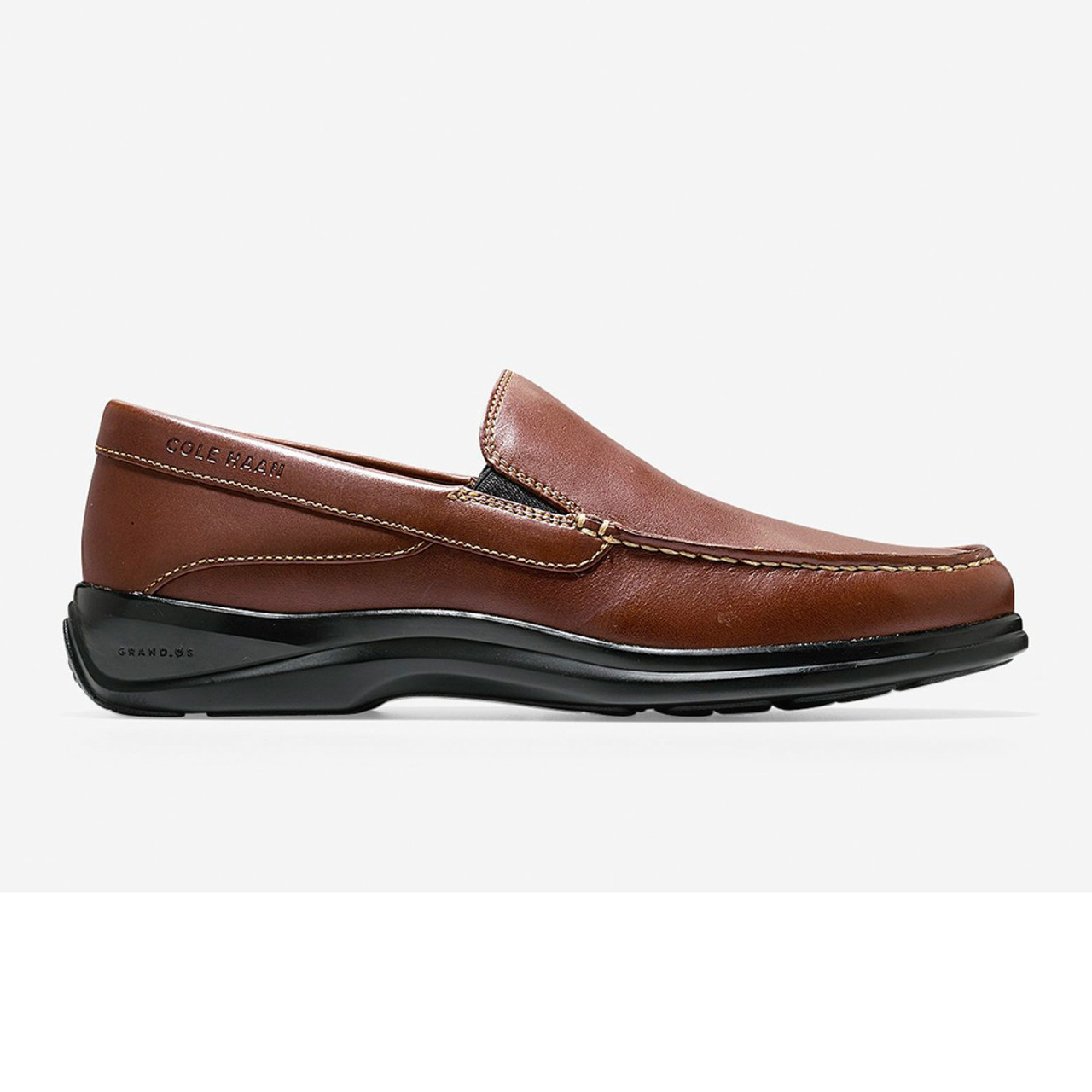 8ee11900177 Cole Haan Men s Santa Barbara Twin Gore Loafer Harvest Brown - Shop now    Shoolu.