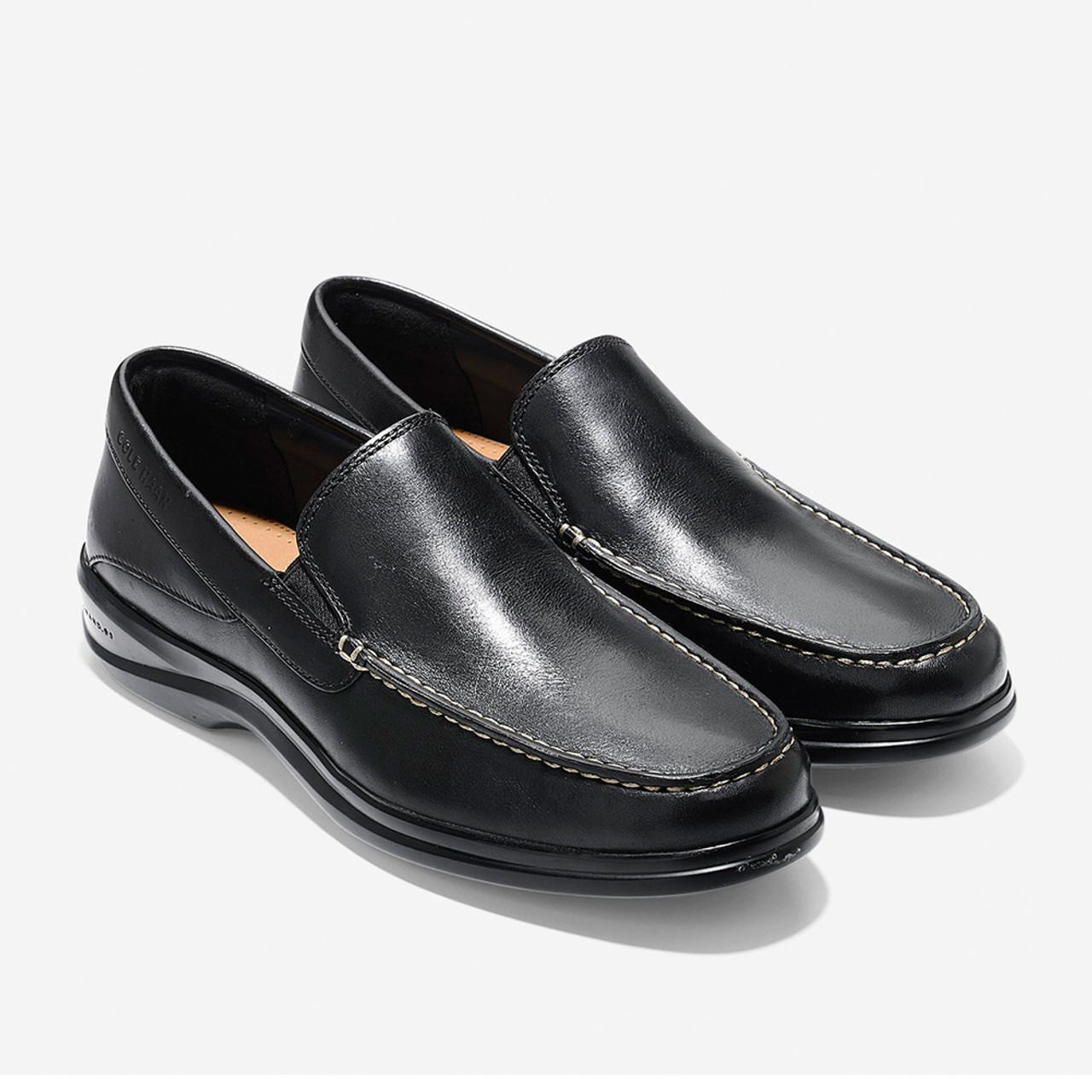 70f5424ccbb Cole Haan Men s Santa Barbara Twin Gore Loafer Black - Shop now   Shoolu.com