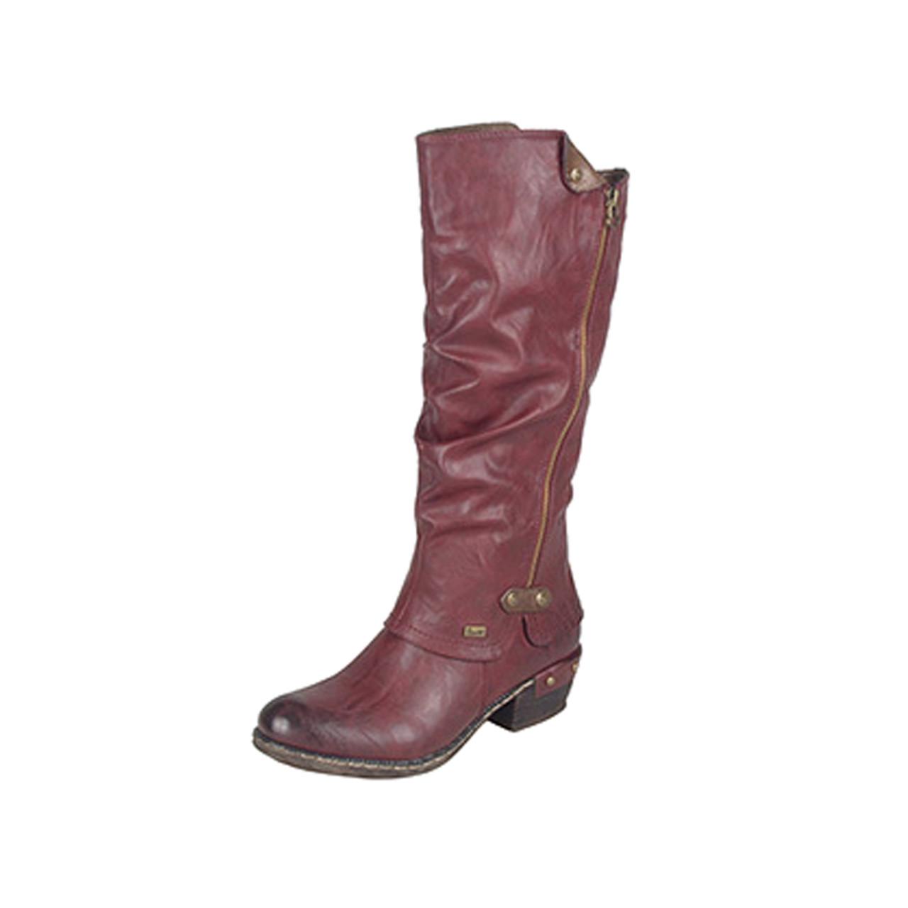 hot-selling official san francisco super popular Rieker Women's Bernadette 55 Knee-High Boot Red