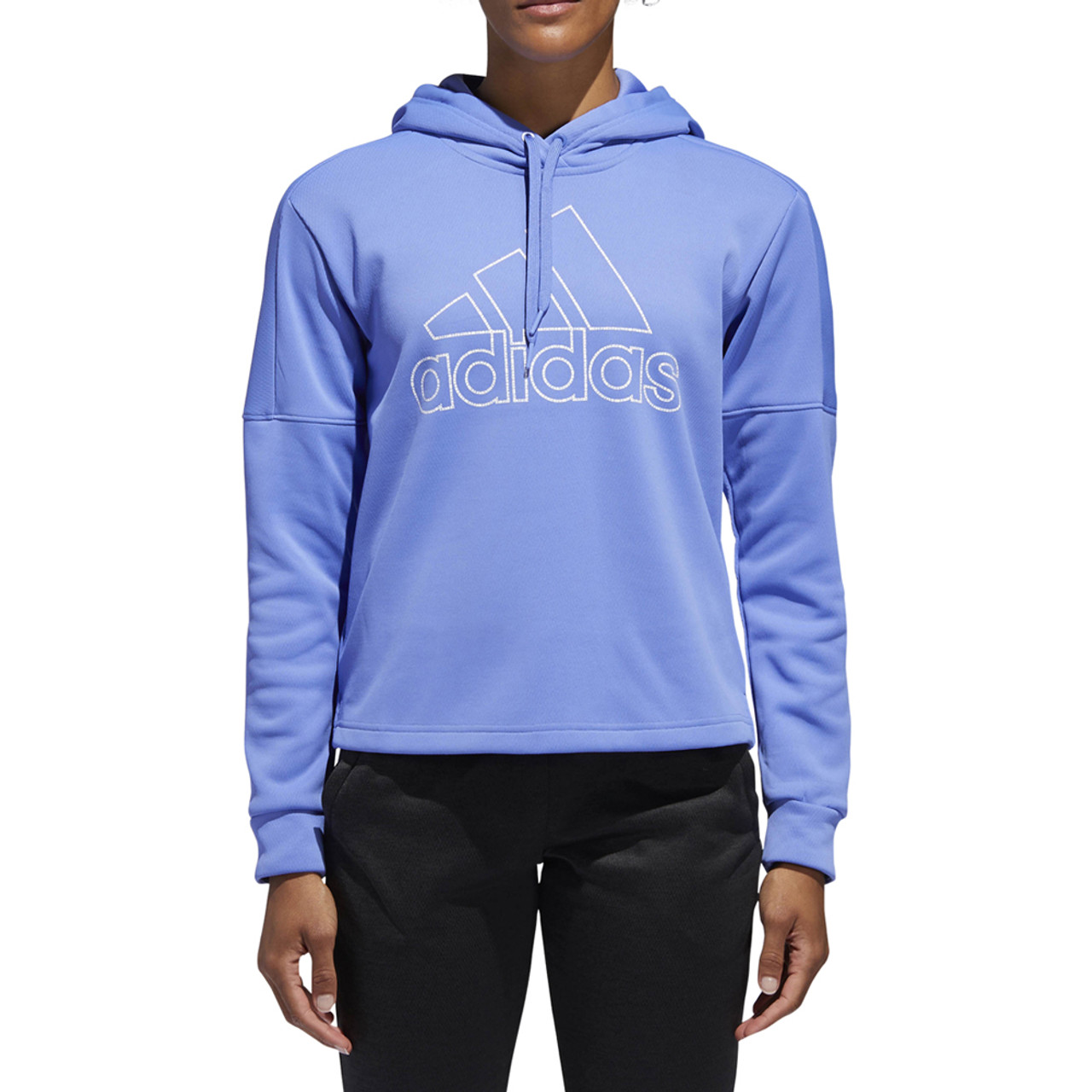 Adidas Women's Team Issue BOS Pullover Hoodie Real Lilac