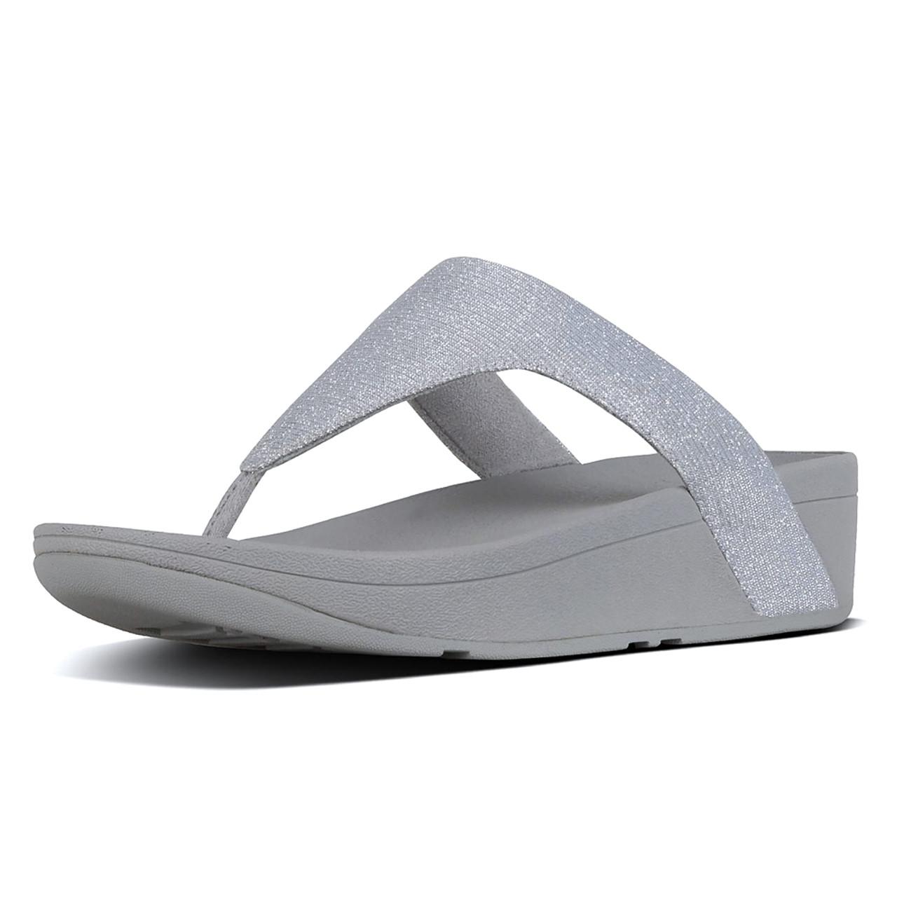 393bdeb88 Fitflop Women s Lottie Glitzy Thong Sandal Silver - Shop now   Shoolu.com