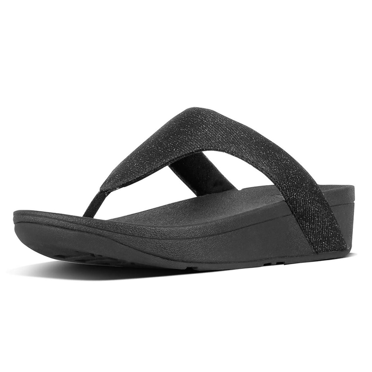 a50dfa80b Fitflop Women s Lottie Glitzy Thong Sandal Black - Shop now   Shoolu.com