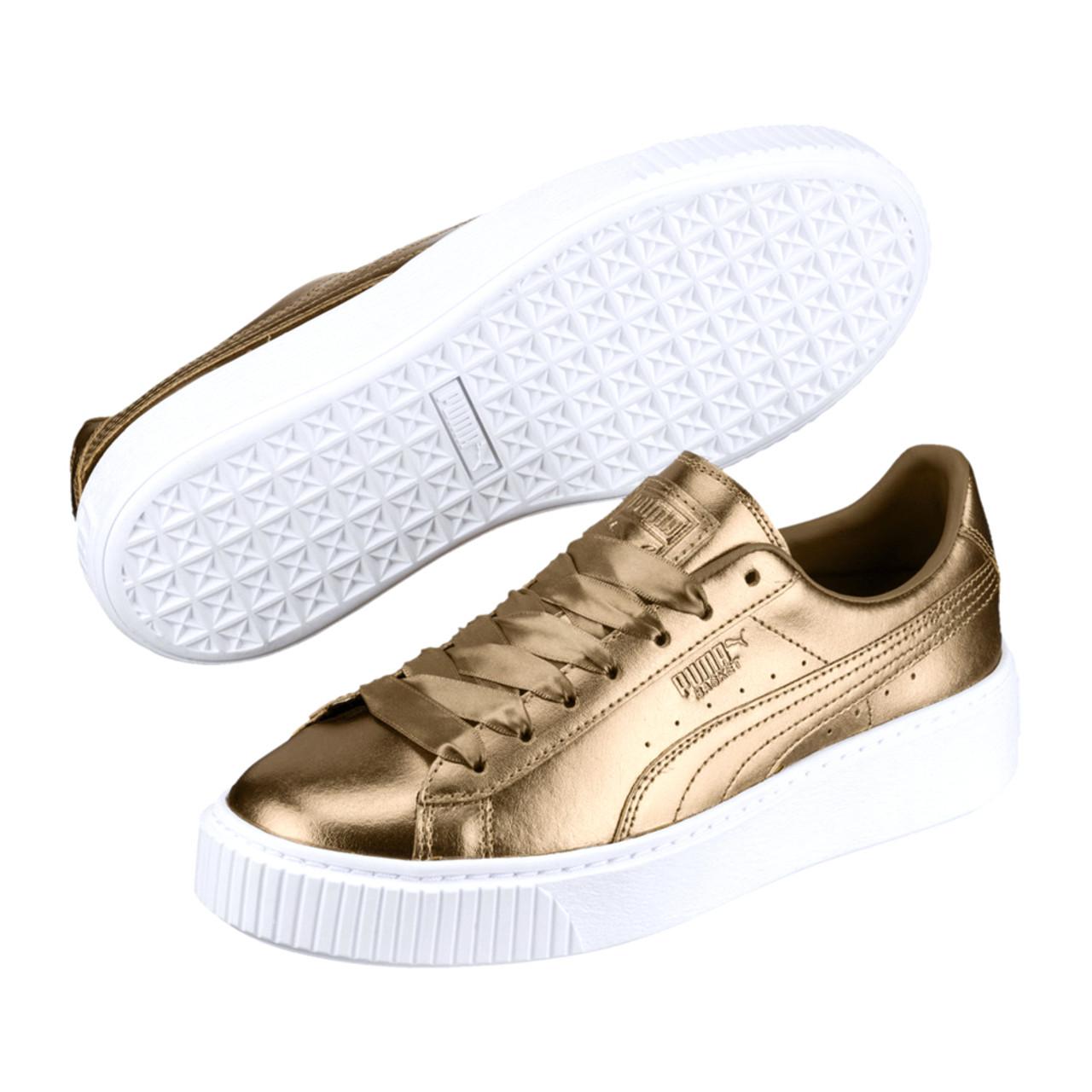 199522bd797 Puma Women s Basket Platform Luxe Sneakers Ermine - Shop now   Shoolu.com
