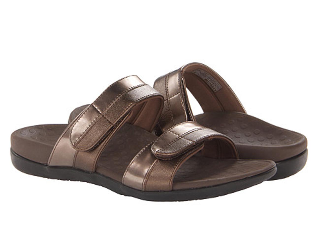 96f4ce5ae776 Vionic Women s Shore Slide Sandal Bronze - Shop now   Shoolu.com