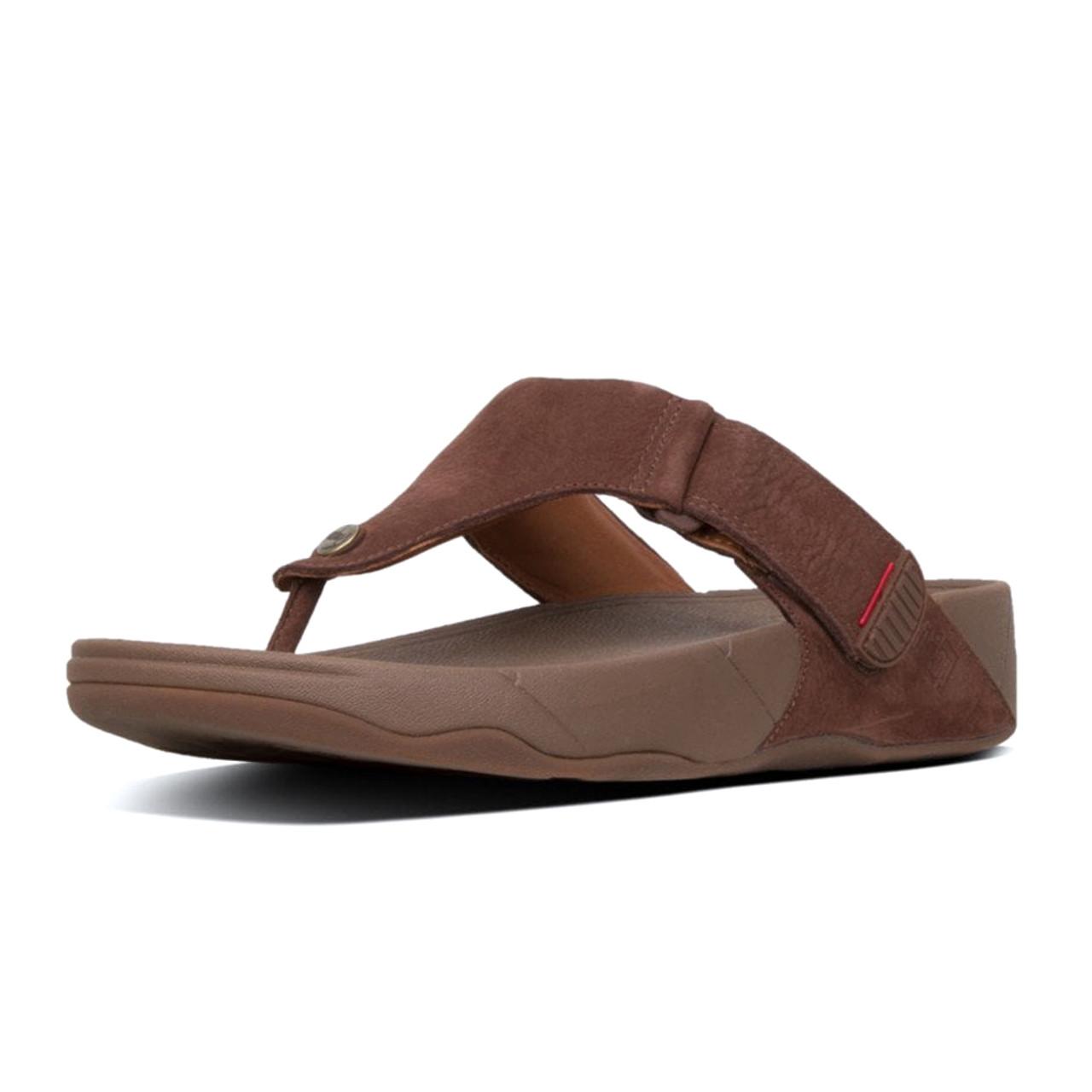 41bdda80a Fitflop Men s Trakk II Nubuck Thong Sandal Chocolate Brown - Shop now    Shoolu.com