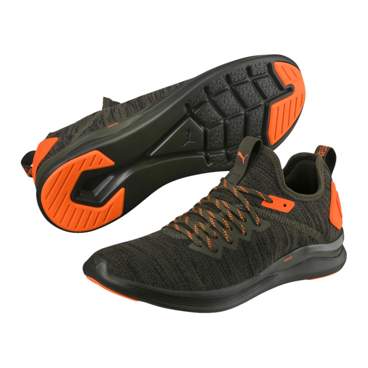 quality design bcee8 68195 Puma Men's Ignite Flash EvoKNIT Unrest Training Shoe Forest Green/Shocking  Orange