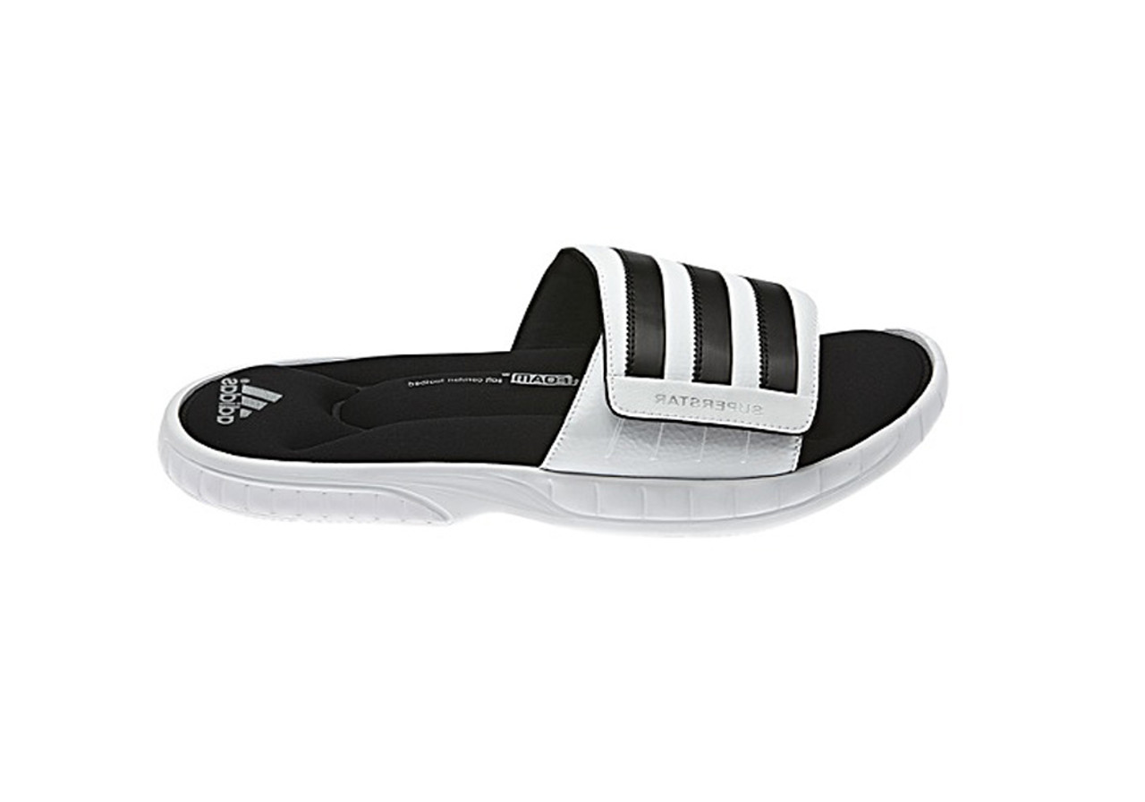 264b8e05e547d Adidas Men s Superstar 3G Slide Sandals White Black Silver - Shop now    Shoolu