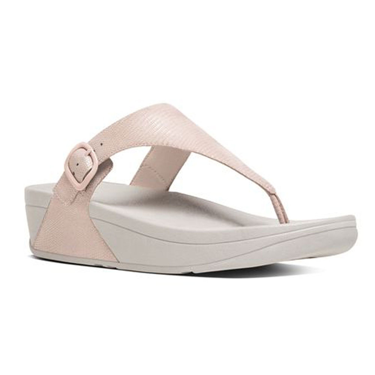 f649f6e64f4727 Fitflop Women s The Skinny Lizard Print Thong Nude Pink - Shop now    Shoolu.com