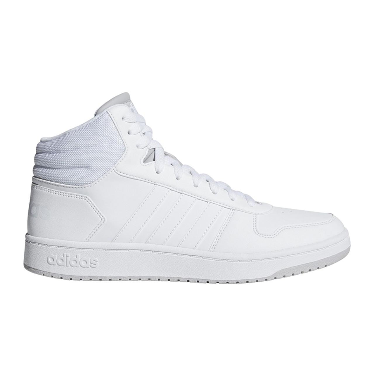 Adidas Men's Hoops 2.0 Mid Basketball Sneaker White