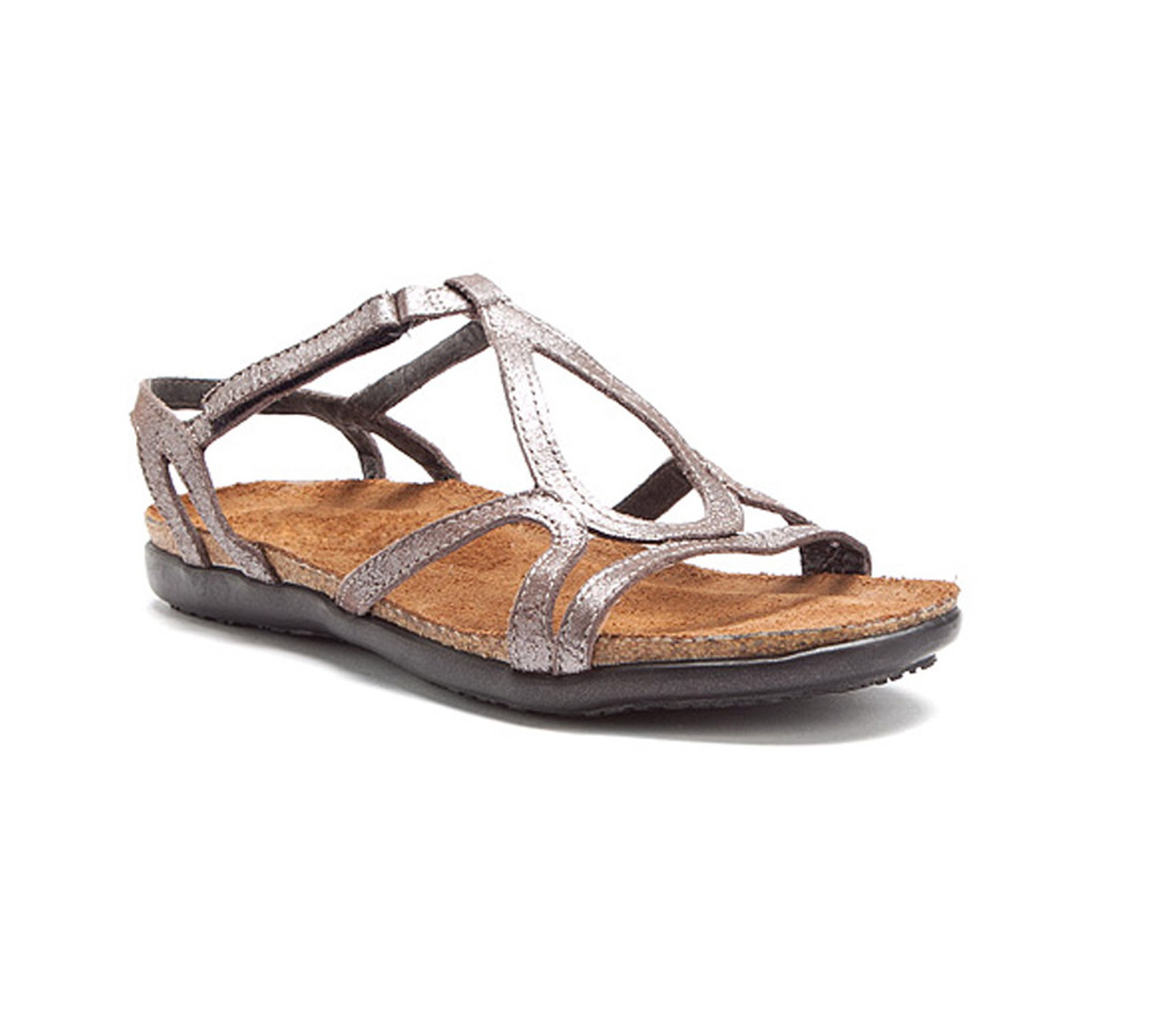 553afb66f0ea Naot Women s Dorith Sandal Silver Threads Leather - Shop now   Shoolu.com