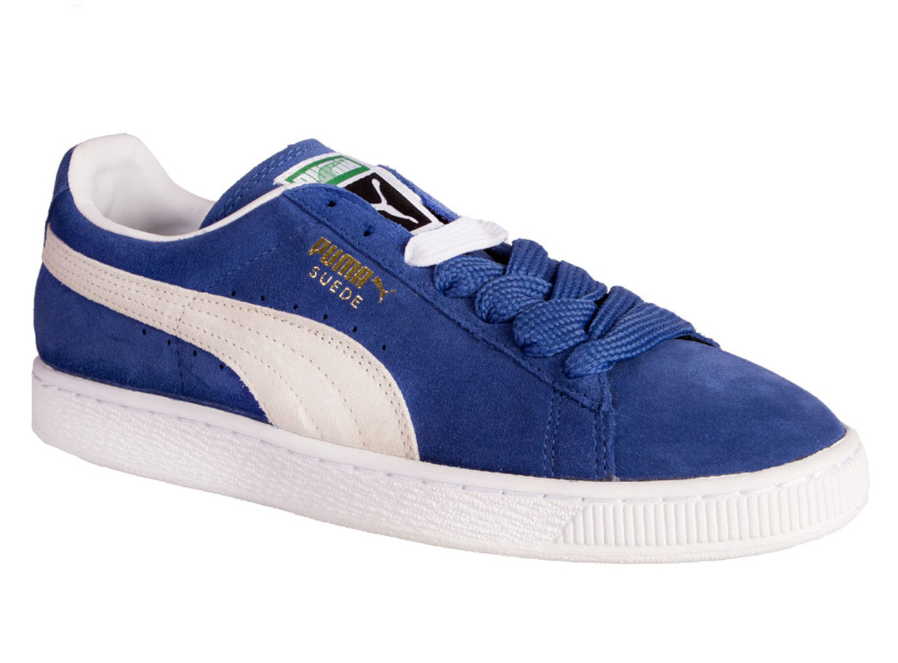 best website ed537 ccb4e Puma Men's Suede Classic + Sneakers Blue/White