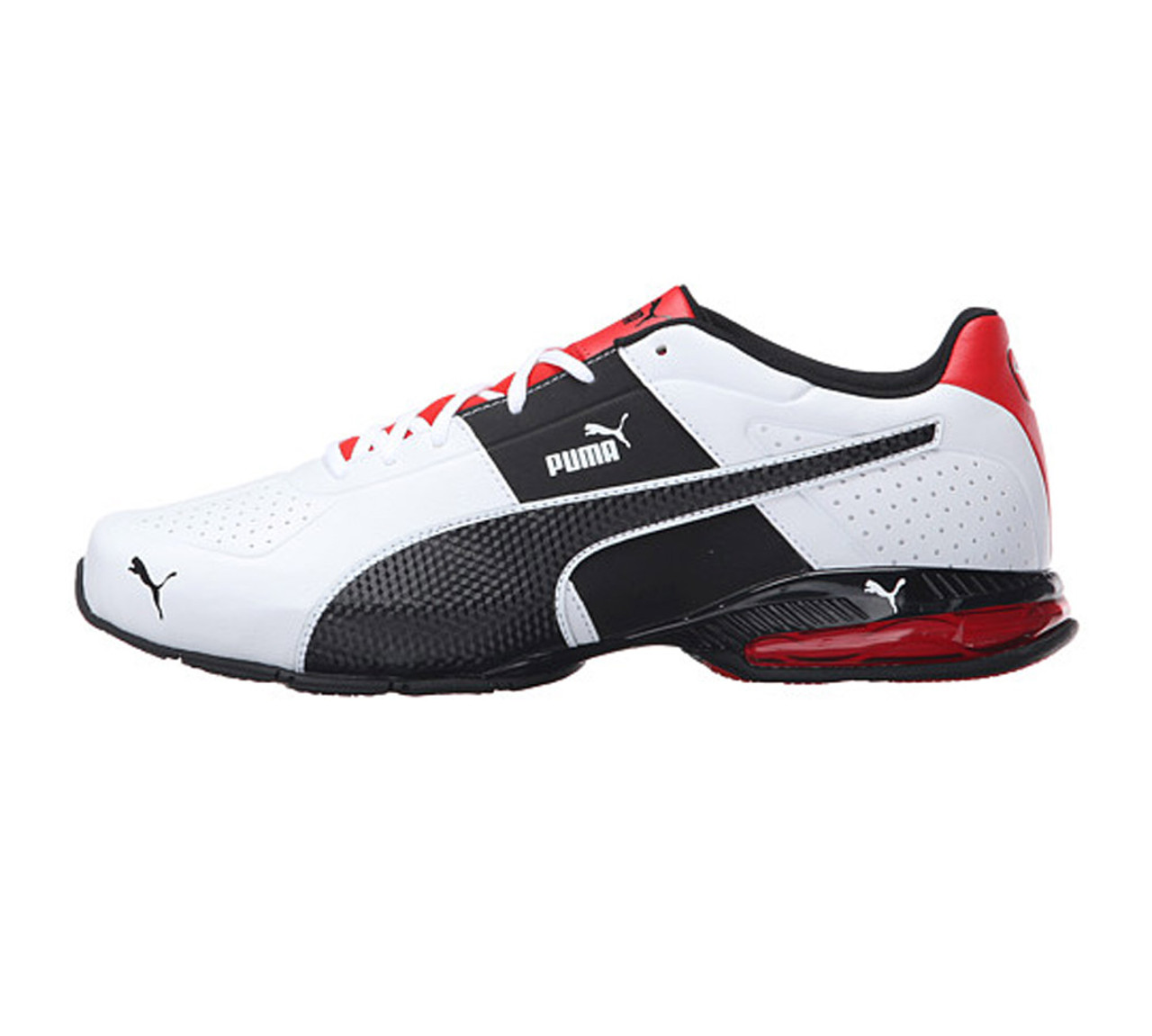 ce9dae0ca5f3c4 Puma Men s Cell Surin 2 FM Sneaker White Black Flame Scarlet - Shop now