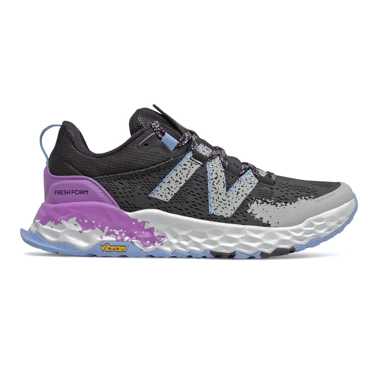 New Balance Women's WTHIERP5 Trail Runner Black/Neo Violet/Fog