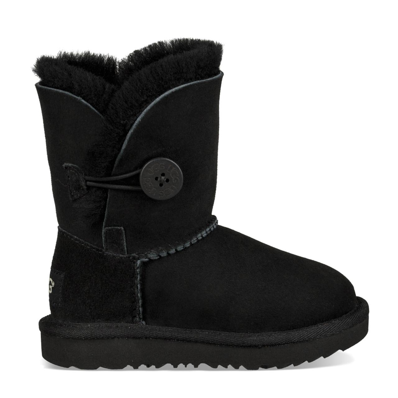 aa87127bb3e UGG Girls Toddler Bailey Button II Boot Black