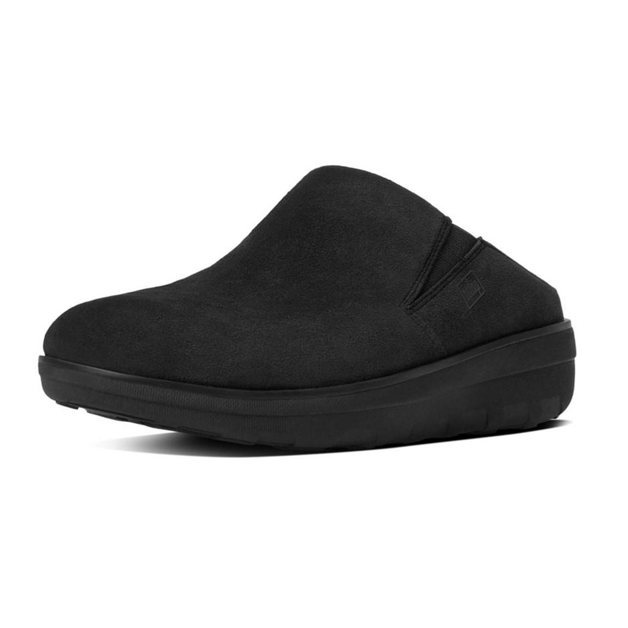 b54a18b6f058 Fitflop Women s Loaff Suede Clogs Black - Shop now   Shoolu.com