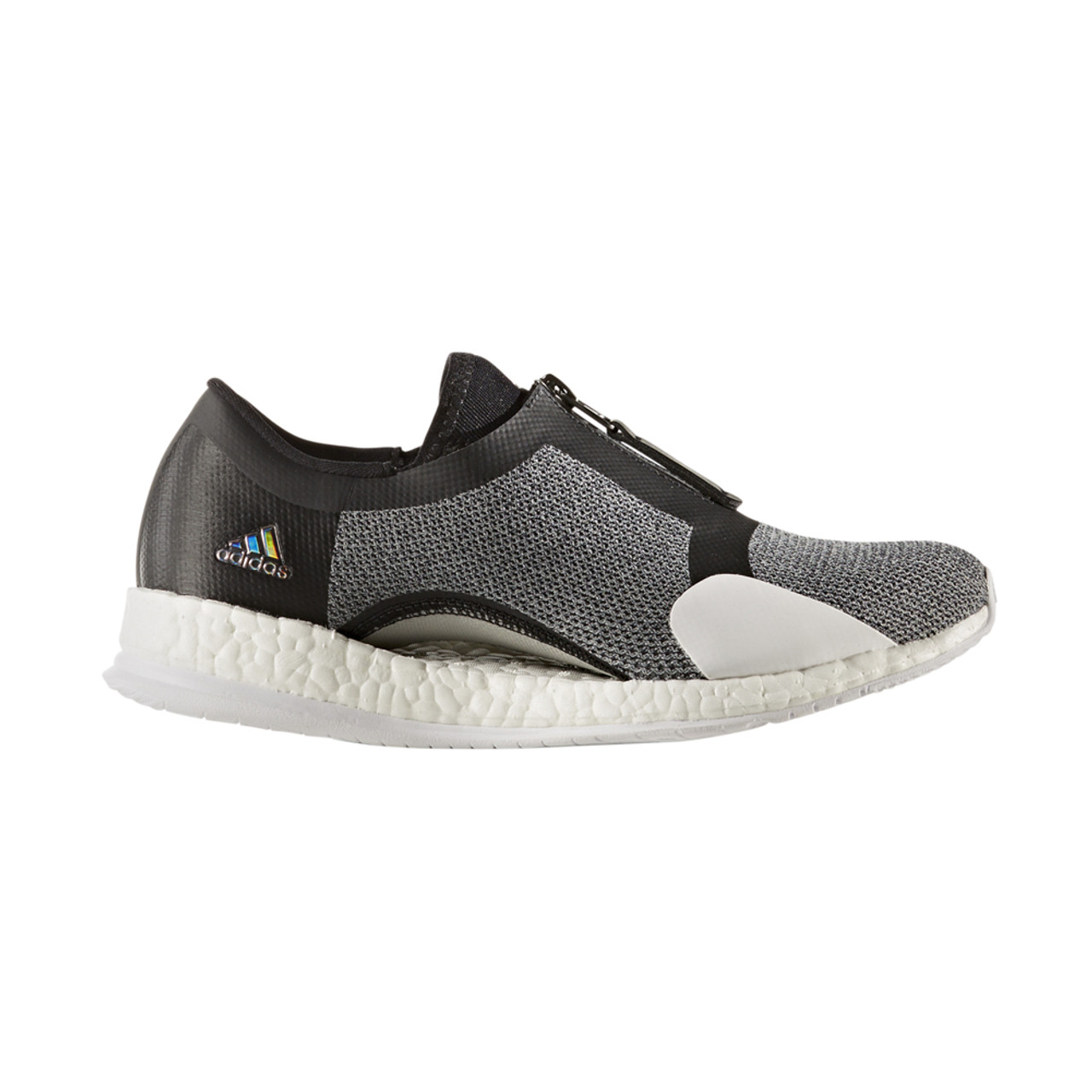 6f8e834b6fdde Adidas Women s PureBoost X TR Zip Cross Trainer Grey Black - Shop now    Shoolu