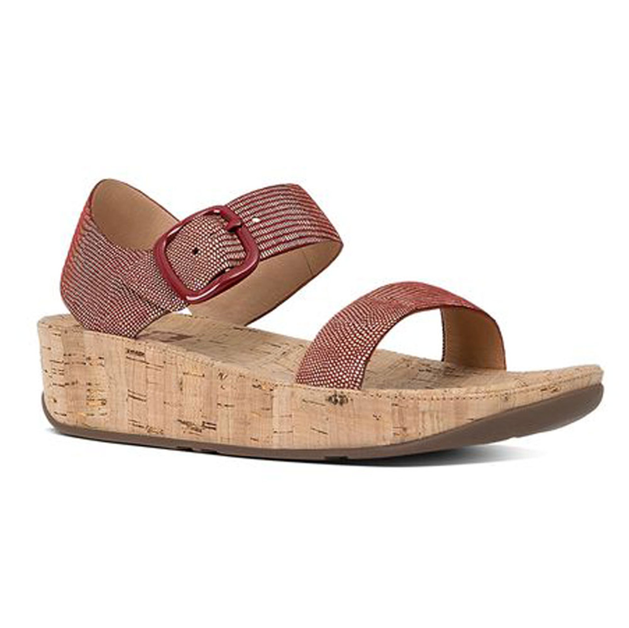 61bd84bc544b83 Fitflop Women s Bon Lizard Print Sandal Spice - Shop now   Shoolu.com