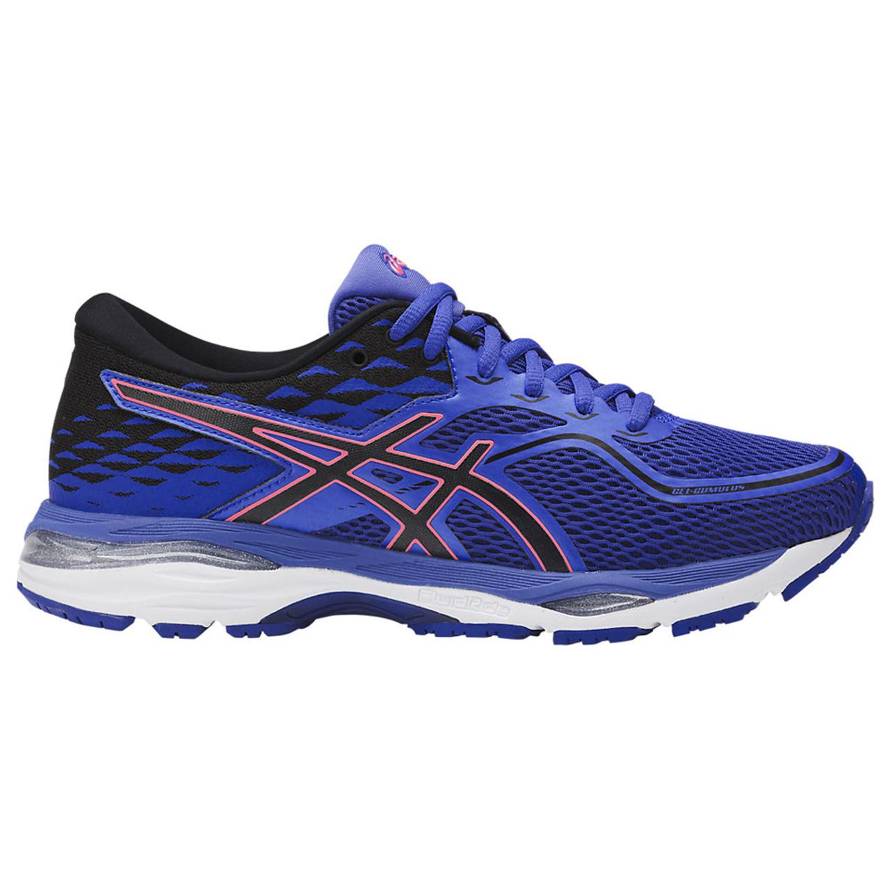 Asics Women s GEL-Cumulus 19 Running Shoe Blue Purple Black Flash Coral - 23c442e82ab