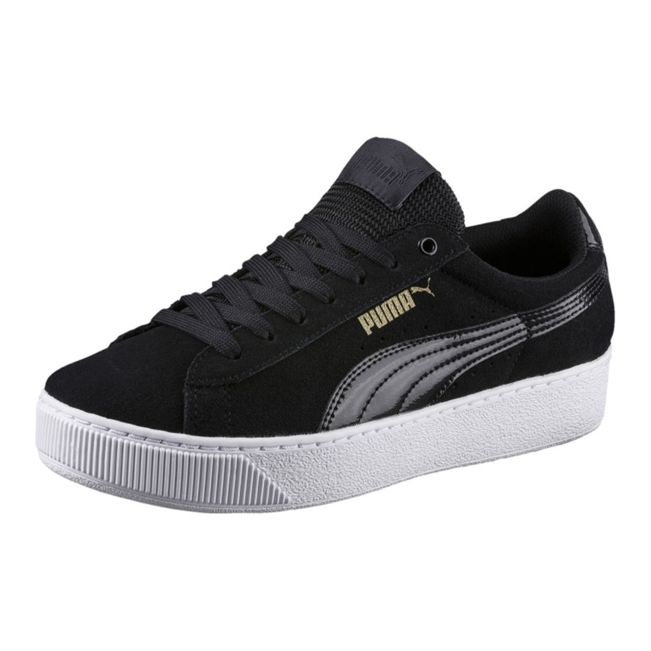 Puma Women s Puma Vikky Platform Sneaker Black White - Shop now   Shoolu.com 072fef51f9